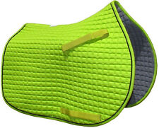 Pri All Purpose Quilted English Saddle Pad - Lime Green PONY PAD