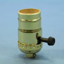 Pass & Seymour Turn Knob 3Way Light Socket Polished Gilt Lampholder 250V 7090-PG