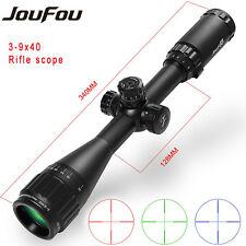JouFou Tactical 3-9x40 RGB Mil Dot Zoom Riflescope Telescopic Hunting Sight