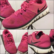 Nike Free Flex Run 2014 Size 5.5 Women Pink Black Running Shoes GUC YGI
