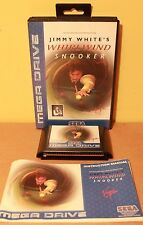 JIMMY WHITES WHIRLWIND SNOOKER Sega Mega Drive PAL COMPLETE Tested Working VGC