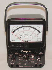 260-8P Simpson 12391, Relay Protected Black Analog Multimeter