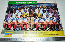 CLIPPING POSTER FOOTBALL 1990-1991 MONTPELLIER HERAULT MHSC LA PAILLADE MOSSON