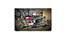 1975 bonneville t140 Bike Motorcycle A4 Retro Metal Sign Aluminium