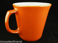 Burnt Orange D handle vintage MOD Pyrex Corning Coffee mugs Mug cup 1960s 1970s