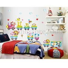 Animal Wall Sticker Monkey Giraffe Tree Train Nursery Baby Kids Room Decal Decor