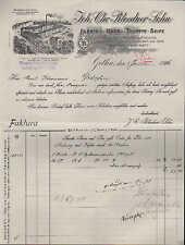 GOTHA, Rechnung 1906, Haus- u. Toilette-Seife-Fabrik Joh. Chr. Bloedner Sohn