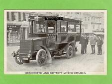 Cirencester & District Motor Omnibus Bus old pc  used H Cherry Ref A658