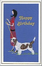 Grand Basset Griffon Vendeen Birthday Card  Embroidered by Dogmania