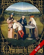 1400'S EUROPEAN MEDICINE SURGERY INSANITY CURE PAINTING ART REAL CANVAS PRINT