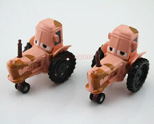 2X Disney Pixar Cars 1:55 Diecast Metal Heifer Tipping Tractor 1:55 Car Toy