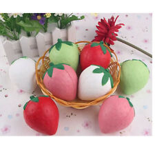 1x 8CM Jumbo Squishy Strawberry Cream Scented Slow Rising Toy Cell Phone Charms