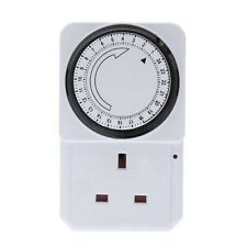 NEW 24 HOUR PROGRAMMABLE TIMER FOR UK MAINS WALL HOME SOCKET PLUG IN SWITCH