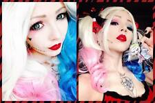 DC Comics Hot Suicide Squad Harley Quinn Wig Pink Blue Gradient Hair for Cosplay
