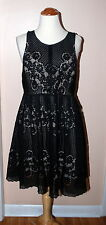 Free People Womens Rocco Sleeveless High-Neck Black Lace Dress Size 6