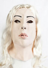 Female Latex Mask Fancy Dress Halloween Costume Masker Living Dolls Crossdresser