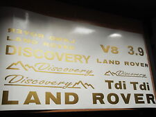 Land rover discovery autocollant set autocollant vinyle discovery V8 3.9 TD5