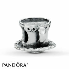 New Retired Pandora Sterling Silver Tea Cup and Saucer Charm 790361 Coffee