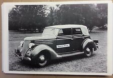 "12 By 18"" Black & White PICTURE 1936 Ford with top up Michigan plates"