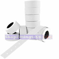10,000x Price Gun White Labels 21 x 12mm(22mm x 12mm) CT1 MoTex Puma10 rolls