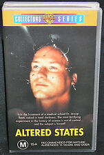 ALTERED STATES (WILLIAM HURT): KEN RUSSEL CLASSIC/1997 RELEASE/PAL VHS/LIKE NEW!