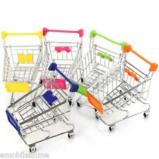 1 PCS Shopping Handcart Desk Supermarket Phone Storage Toy Pen Holder Basket
