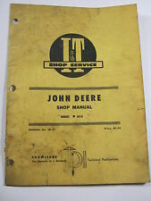 JOHN DEERE 2510 SHOP MANUAL I&T