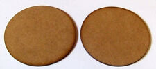 2mm MDF 75mm round bases pack of 2 suitable for Bolt Action and other games