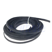 10M 6mm Braided Sleeving - Braid Cable Wiring Harness Loom Protection Black WS