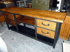 Console 4 tiroirs style meuble industriel bois mètal loft tendance vintage
