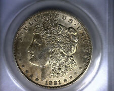 Au58 Anacs 1921 Top 100 Vam 27A Infrequently Reeded Morgan Silver Dollar Coin