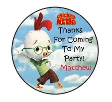 CHICKEN LITTLE BIRTHDAY PARTY THANK YOU FOR COMING TO MY PARTY STICKERS FAVORS