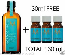 MOROCCAN OIL  100ml   3 x 10ml TRAVEL SIZE FREE. MAKING A TOTAL OF 130ml