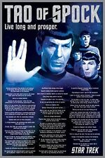 STAR TREK - TAO OF SPOCK POSTER - 24x36 LIVE LONG AND PROSPER NIMOY TV 241331