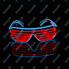 Red+Blue El Wire Neon LED Light Up Glasses For Costume Party For Haloween Clubs