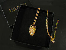JOAN RIVERS FABERGE INSPIRED RHINESTONE PENDANT EGG NECKLACE-OPENS SECRET SCROLL