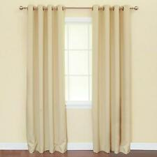 """NEW Set of 2 Insulated Thermal Blackout Window Curtain Panels 52""""x 84"""" Beige"""