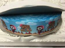 1 Metre Sheriff Callie Blue Print Grosgrain Ribbon Designer 22mm Cakes Bow Dummy