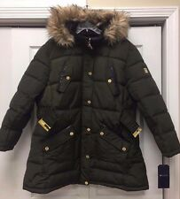Rocawear Women's Olive Belted Hooded Puffer Coat Size 2X New w/ Tags!