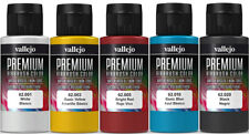Vallejo Airbrush Premium Farben Set 5x 60ml *Basis Airbrushfarben Acrylfarben