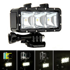 30m Underwater Waterproof Diving Spot Light LED Mount for GoPro Hero 4 3+ 3 AO