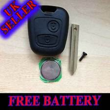 CITROEN XSARA PICASSO BERLINGO REPLACEMENT 2 BUTTON KEY FOB CASE FREE BATTERY