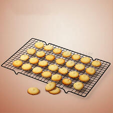 Black Rectangular Mesh Nonstick Cake Cooling Rack Biscuits Drying Baking Tools