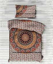 Indian Duvet Cover Reversible Elephant Mandala Doona Quilt Cover With Pillow