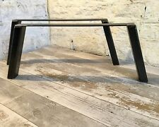 2 Handmade 60x40 Raw Steel Coffee Table Upcycle Furniture Legs Industrial Style