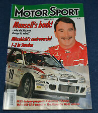 Motor Sport March 1995 Mansell at McLaren, BTCC, Volvo T-5R, W165