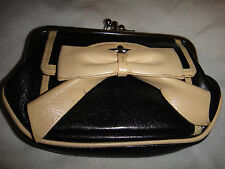 DKNY Black Leather Bow Purse Rare!!!!