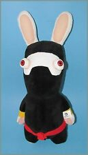"Raving Rabbids Black Ninja outfit  Plushie HUGE 18"" tall by Fiesta"