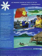 Publicité advertising 2003 Compagnie aerienne Air Tahiti Nui