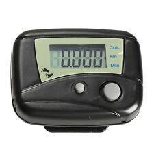 LCD Run Step Pedometer Walking Distance Calorie Counter Passometer Black